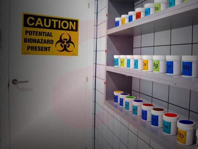 escape room: El rector de química
