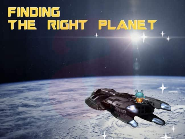 escape room: Finding the right planet