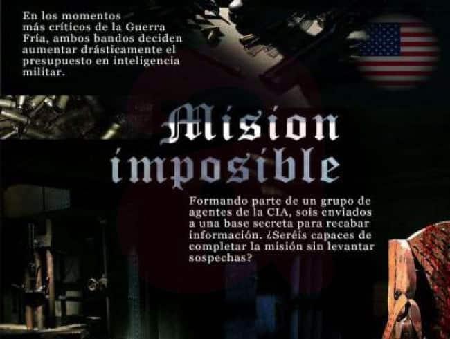 escape room: Misión imposible
